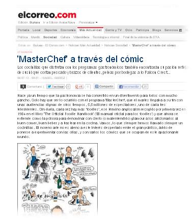 MasterChef comic El Correo